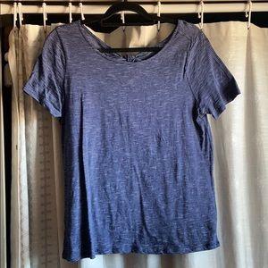 Loft blue & white stripe t-shirt